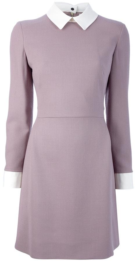 Victoria Victoria Beckham Contrast collar dress