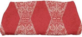 "E By Design Simply Daisy 28"" x 58"" Pyramid Stripe Geometric Print Bath Towel"