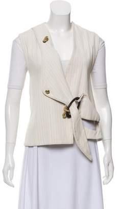 J.W.Anderson Pinstripe Tie-Accented Vest