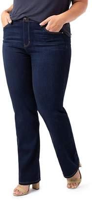 Liverpool Plus Sadie Straight Jeans in Stone Wash