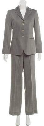 Giorgio Armani Herringbone Wide-Leg Pantsuit