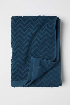 H&M Jacquard-patterned Bath Towel - Turquoise