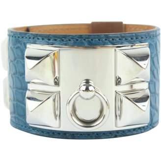Hermes Blue Alligator Bracelets