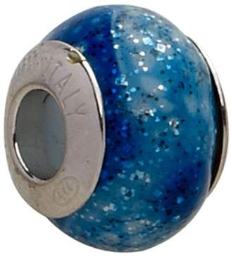 Murano Bellissi Venezia Genuine Glass Charm Bead with Sterling Silver Fittings.