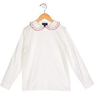 Papo d'Anjo Girls' Woven Button-Up Top