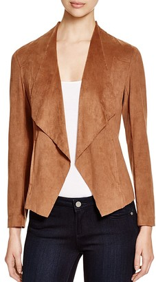 Alison Andrews Draped Faux Suede Jacket $88 thestylecure.com