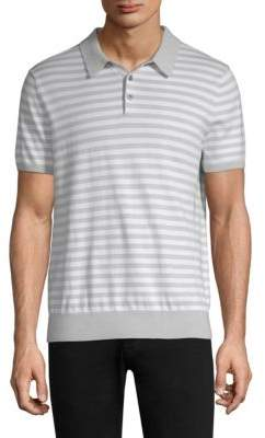 Michael Kors Striped Cotton Polo