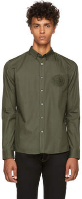 Balmain Khaki Embroidered Shirt