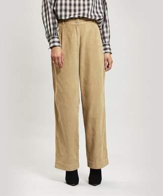 Folk Long Wide-Leg Cord Trousers