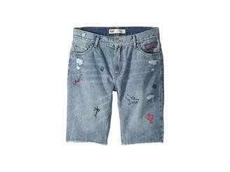 Levi's Kids 511 Slim Fit Destroyed Denim Cut Off Shorts (Big Kids)