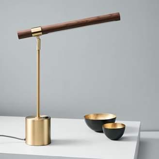 west elm Linear Wood LED Table Lamp + USB