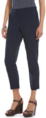 Chaps Bi-Stretch Straight-Leg Pants - Women's