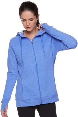 Tek Gear Women's Ultrasoft Fleece Hooded Thumb Hole Jacket
