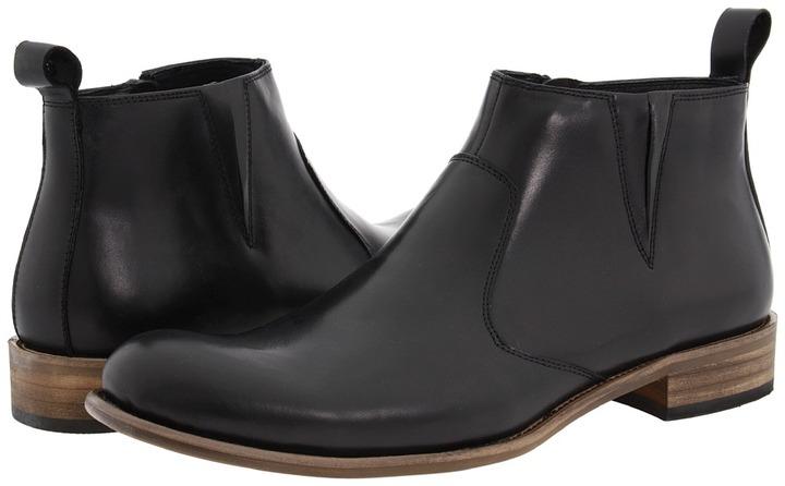 Steve Madden Bryton (Black Leather) - Footwear