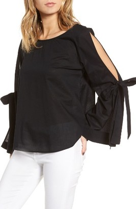 Women's Bp. Tie Sleeve Blouse $45 thestylecure.com