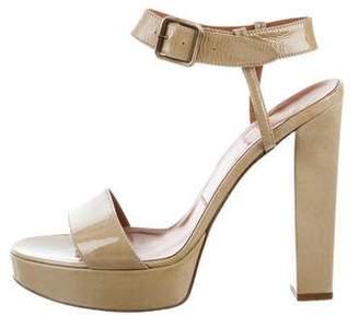 Lanvin Patent Leather Ankle-Strap Sandals