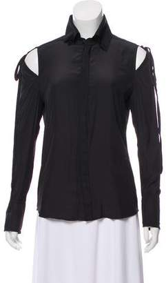 Calvin Rucker Cutout-Accented Long Sleeve Blouse