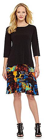 Eva Varro Tiered Abstract Skirt