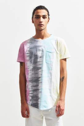 Urban Outfitters Tie-Dye Scoop Neck Curved Hem Tee