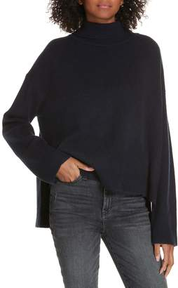 Lewit Tie Back High/Low Cashmere Blend Sweater