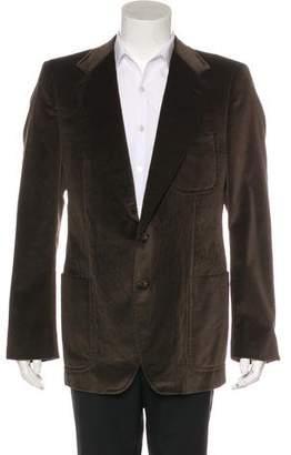 Saint Laurent Velour Silk-Lined Sport Coat
