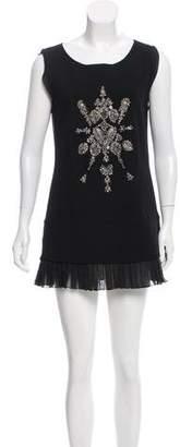 Derek Lam Embellished Pleated Dress