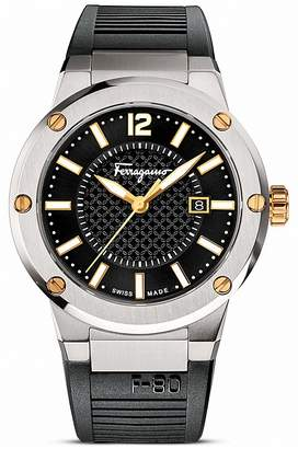 Salvatore Ferragamo F-80 Stainless Steel Watch, 44mm $1,195 thestylecure.com