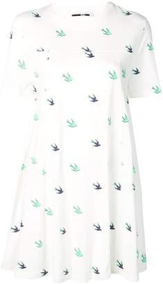 McQ birds T-shirt dress