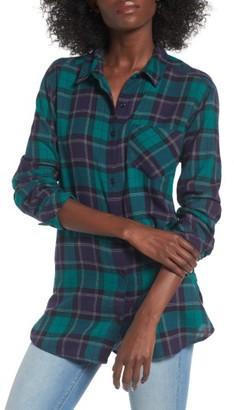Women's Bp. Plaid Cotton Blend Shirt $49 thestylecure.com