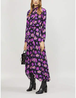 Maje Ritunia crossover-front floral-print dress