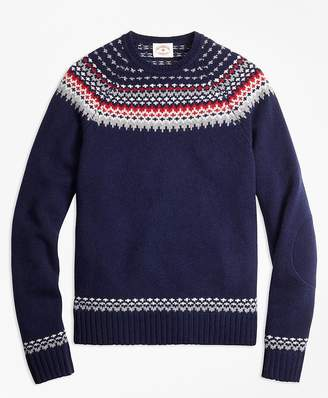 Nordic Fair Isle Crewneck Sweater $108 thestylecure.com