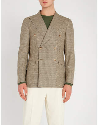 Corneliani CC Collection houndstooth-patterned regular-fit wool jacket