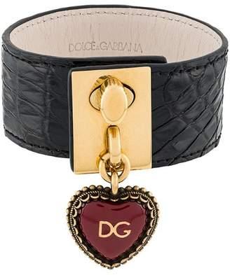 Dolce & Gabbana heart locket cuff bracelet