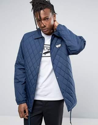 Vans Torrey Quilted Coah Jacket In Blue