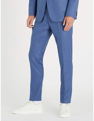 Tiger of Sweden Slim-fit skinny wool-flannel trousers