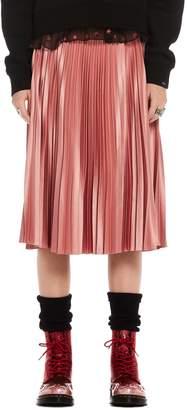 Scotch & Soda Shiny Pleated Midi Skirt