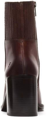 Frye Pia Chelsea Leather Block-Heel Booties