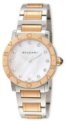 Bvlgari 33mm  Watch with Diamonds