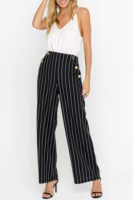 Lush Striped Pants, Black