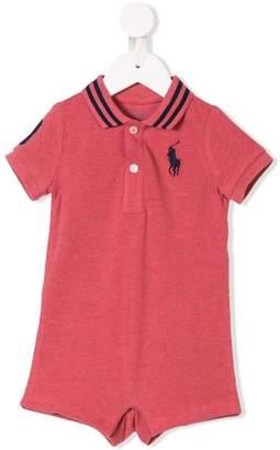 Ralph Lauren Kids logo polo bodysuit top