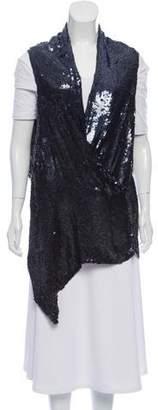 Ann Demeulemeester Silk Sequin Vest