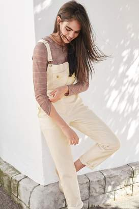 Next Womens Ecru Denim Dungarees - Cream