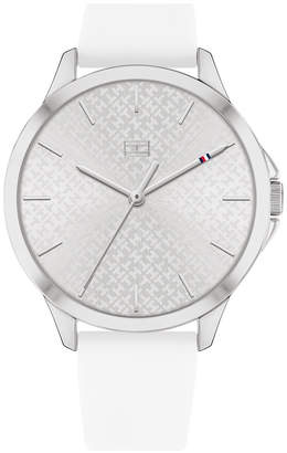 Tommy Hilfiger Women White Silicone Strap Watch 38mm