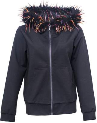 Vhny Black Jacket With Color Fur