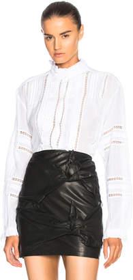 Etoile Isabel Marant Valda Lace & Cotton Blouse
