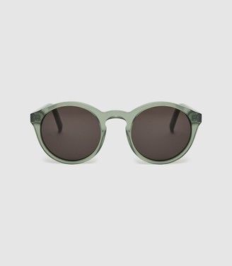 Reiss Barstow - Monokel Eyewear Keyhole Sunglasses in Green