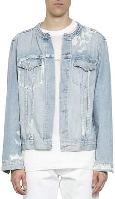 Ih Nom Uh Nit Printed Denim Cotton Jacket