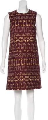 Dolce & Gabbana Key Print Sheath Dress