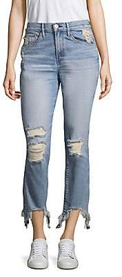 3x1 Women's Straight Authentic Distressed Jeans