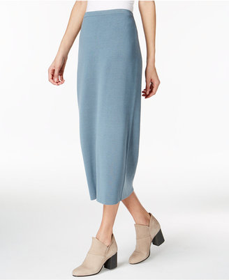 Eileen Fisher Silk-Blend Pull-On Midi Skirt $218 thestylecure.com